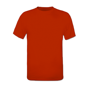 T-shirt rouge homme
