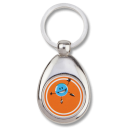 Porte-clef chrome 2 faces