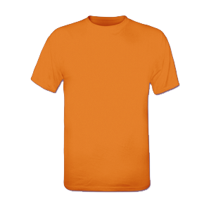 T-shirt orange homme